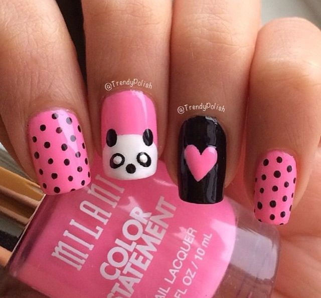 Panda nail design - Panda Nail Design Nails Pinterest Panda, Makeup And Nail Stuff