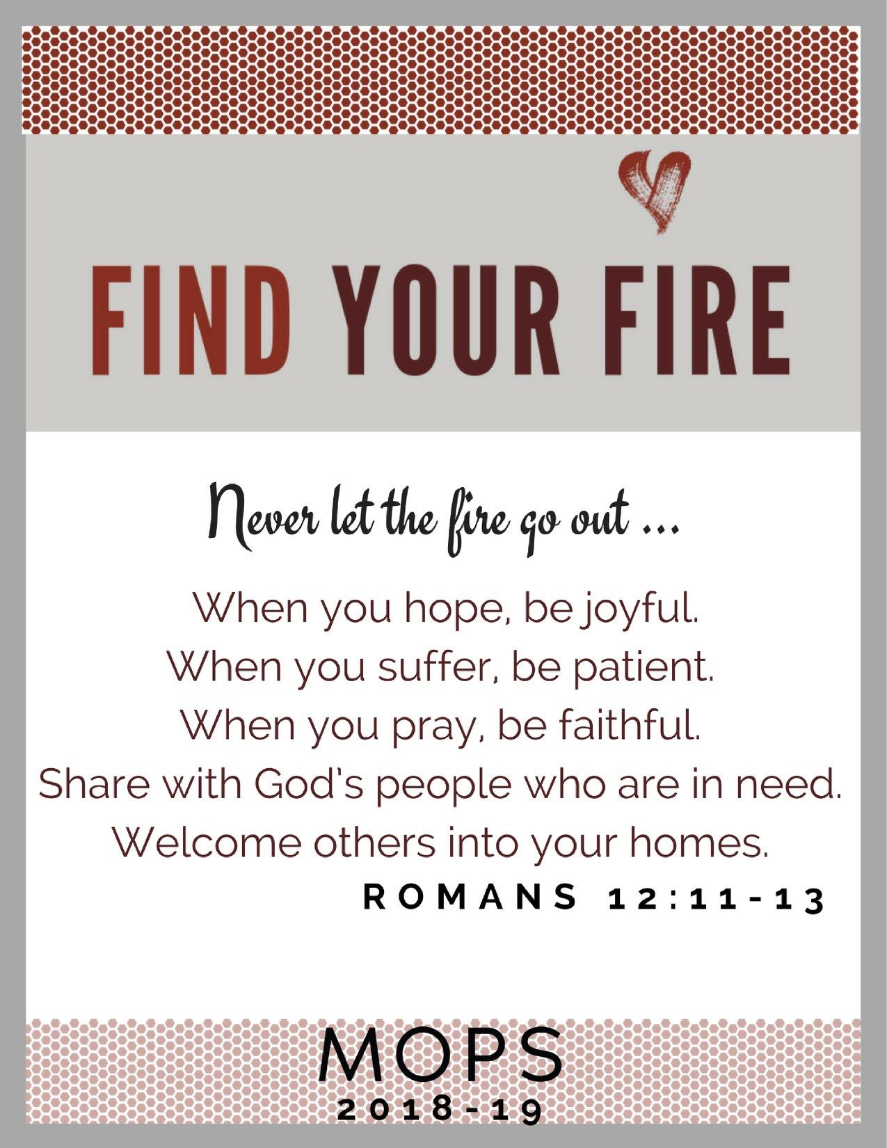Pin By Kristal Cohle On MOPS- Find Your Fire