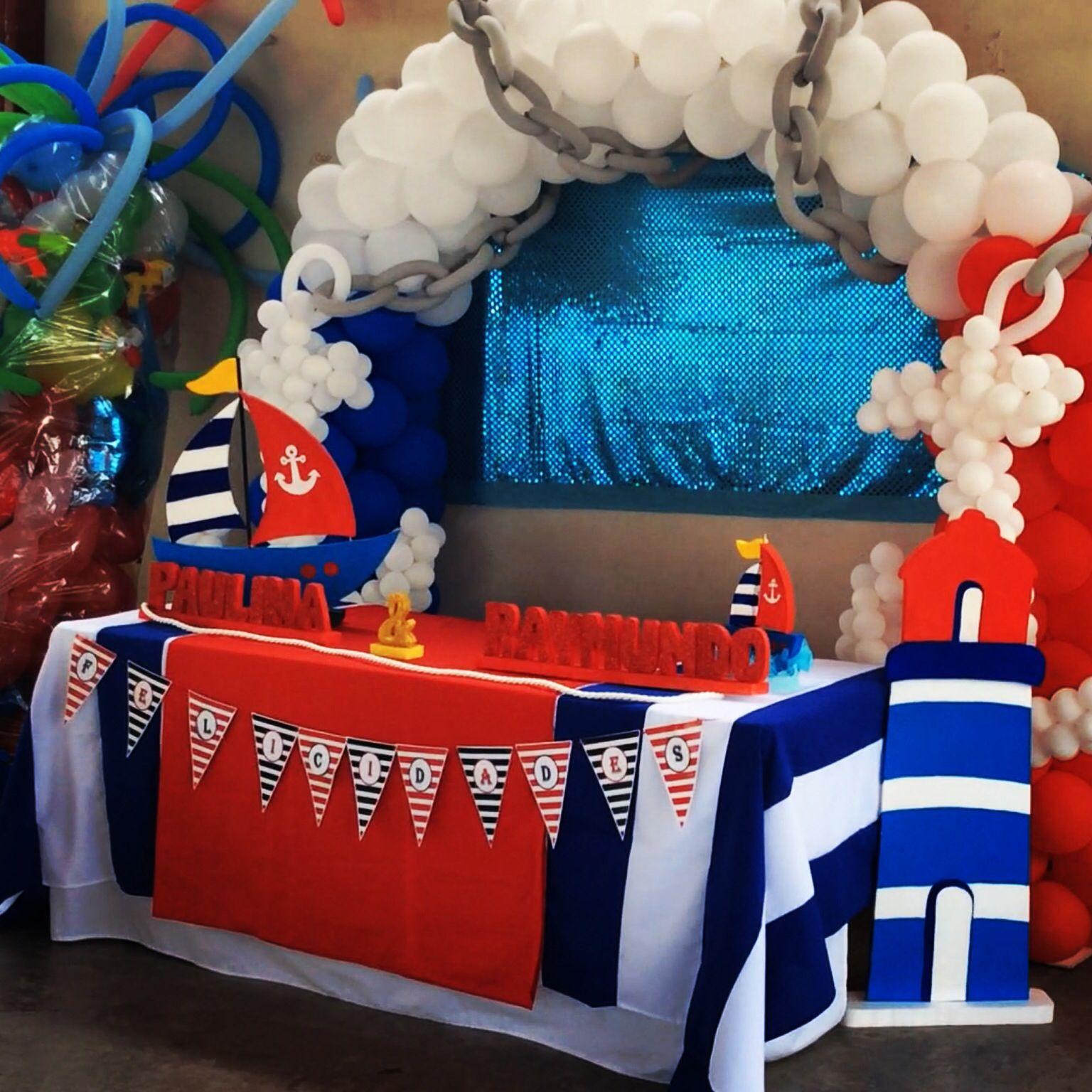 Fiesta n utica por balloon decoraci n decoracion eventos for Decoracion nautica infantil
