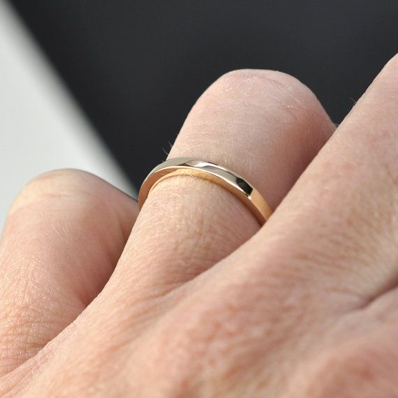 14k Yellow Gold 2 By 1 5mm Square Edge Ring Tall By Seababejewelry Rings Jewelry 14k Yellow Gold