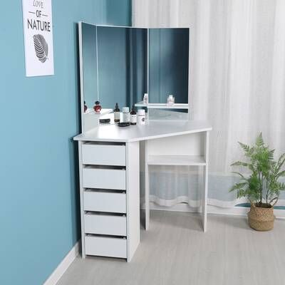 Diop Makeup Vanity with Mirror