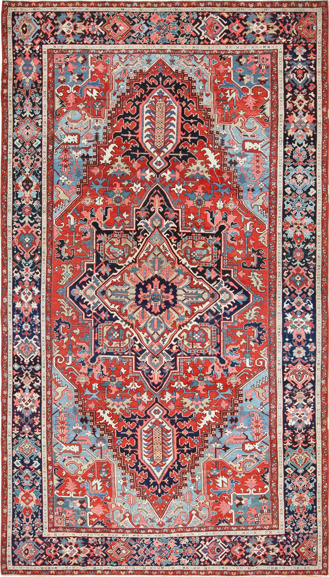 View This Magnificent Large Oriental Antique Persian Serapi Heriz Rug 49392 Available For Sale At Nazmiyal An Rugs On Carpet Antique Persian Carpet Heriz Rugs