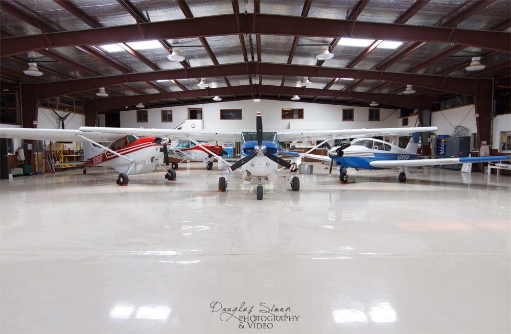 Gorgeous Small Aircraft Hangar Pristine Floor Small Airplanes Small Aircraft Industrial Photography