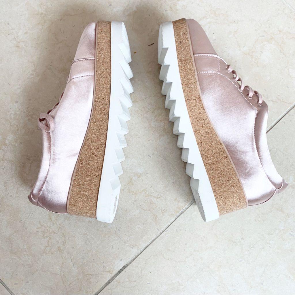 Aldo Shoes | Nwot Aldo Pink Satin Platform Sneakers. | Color