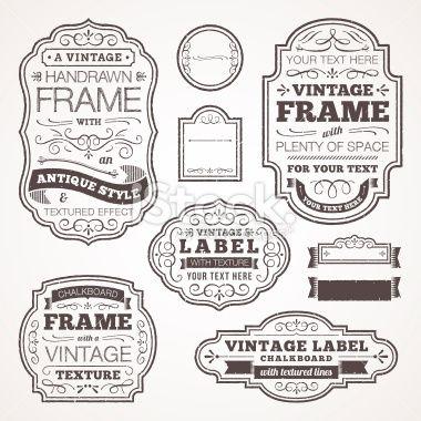 vintage labels | ink obsession | Pinterest | Free vector art, Vector ...