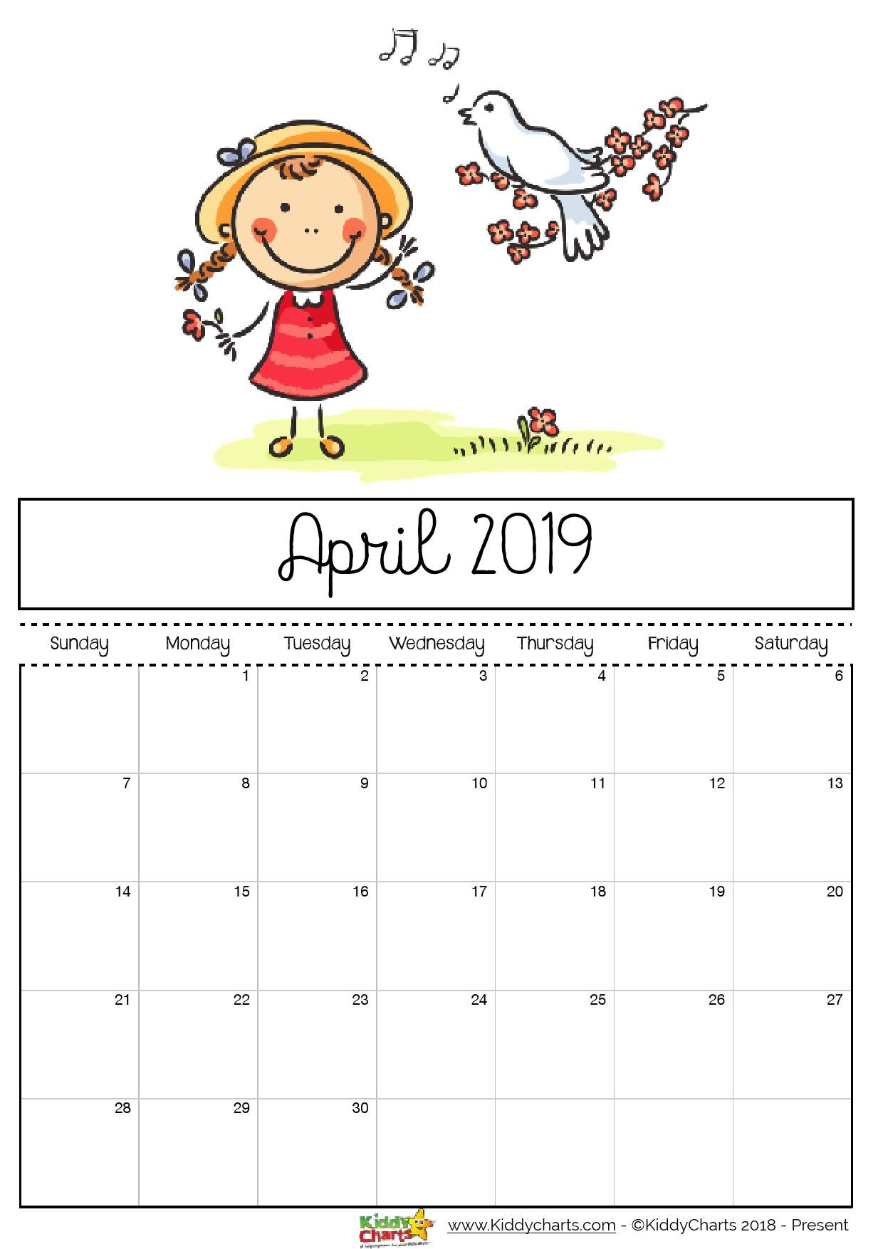 April Printable Calendar Sheet