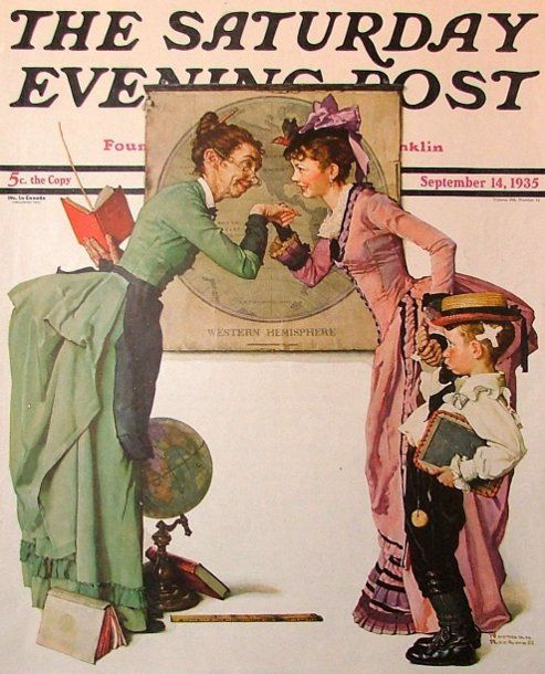 NORMAN ROCKWELL AFTER THE PROM HALCYON DAYS LE BOX