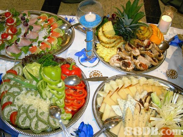 Small Party Reception Buffet Table Displays Wedding Reception