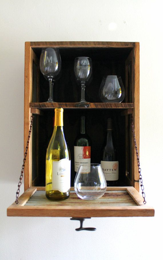 rustic hanging liquor cabinet murphy bar wall bar wine rack made to order liquor. Black Bedroom Furniture Sets. Home Design Ideas