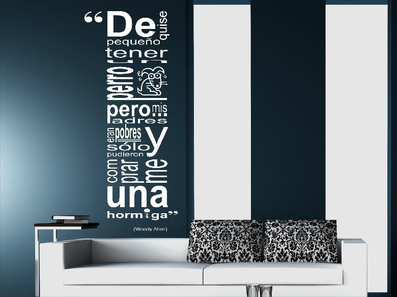 frases en vinilo para pared