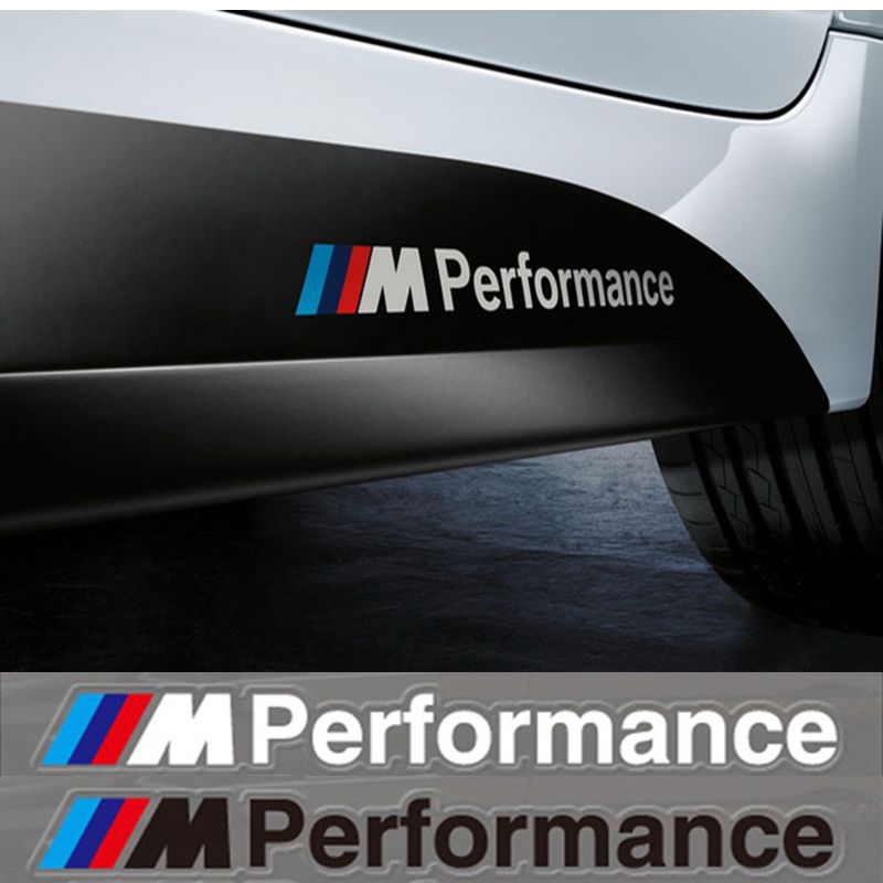 2x car styling m performance power motorsport car stickers and decals kit for bmw x1