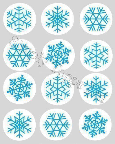 Papier De Riz Décoration décoration gateau motif flocon de neige noel bleu papier de riz
