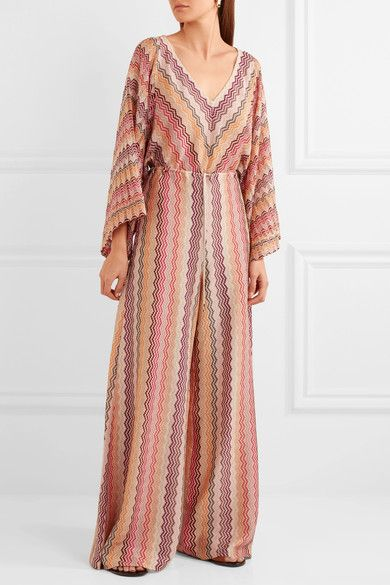 d8f2c84dd40 Missoni - Metallic Crochet-knit Jumpsuit - Pink