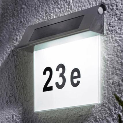 Solar Huisnummer Zeta I op zonne energie inclusief nummers