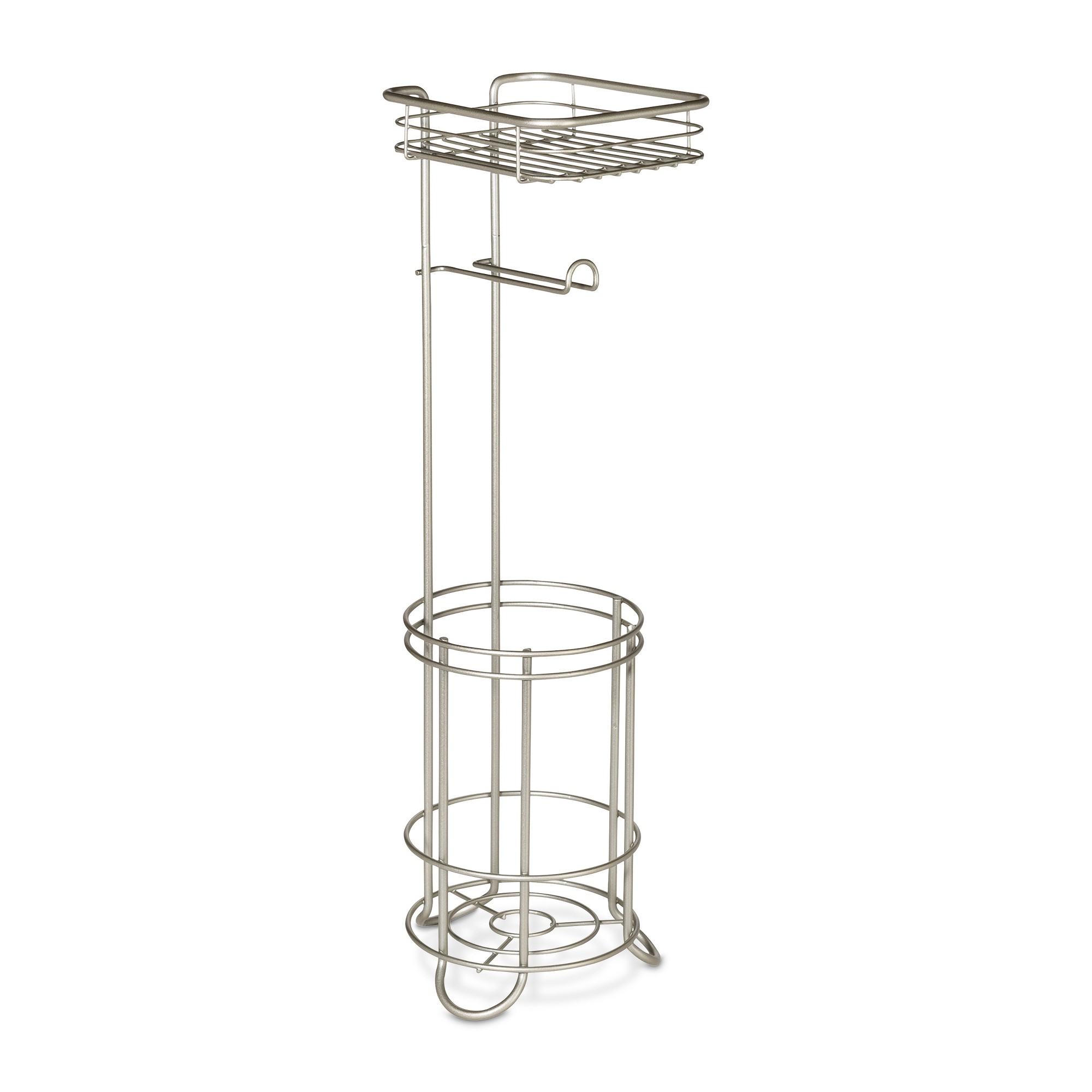 Stand Toilettenpapierhalter Reserve With Wire Media Shelf Pearl Freestanding Toilet Tissue