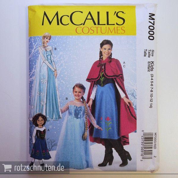McCALL\'S 7000 Schnittmuster Eiskönigin KIDs 94-134 | Eiskönigin ...