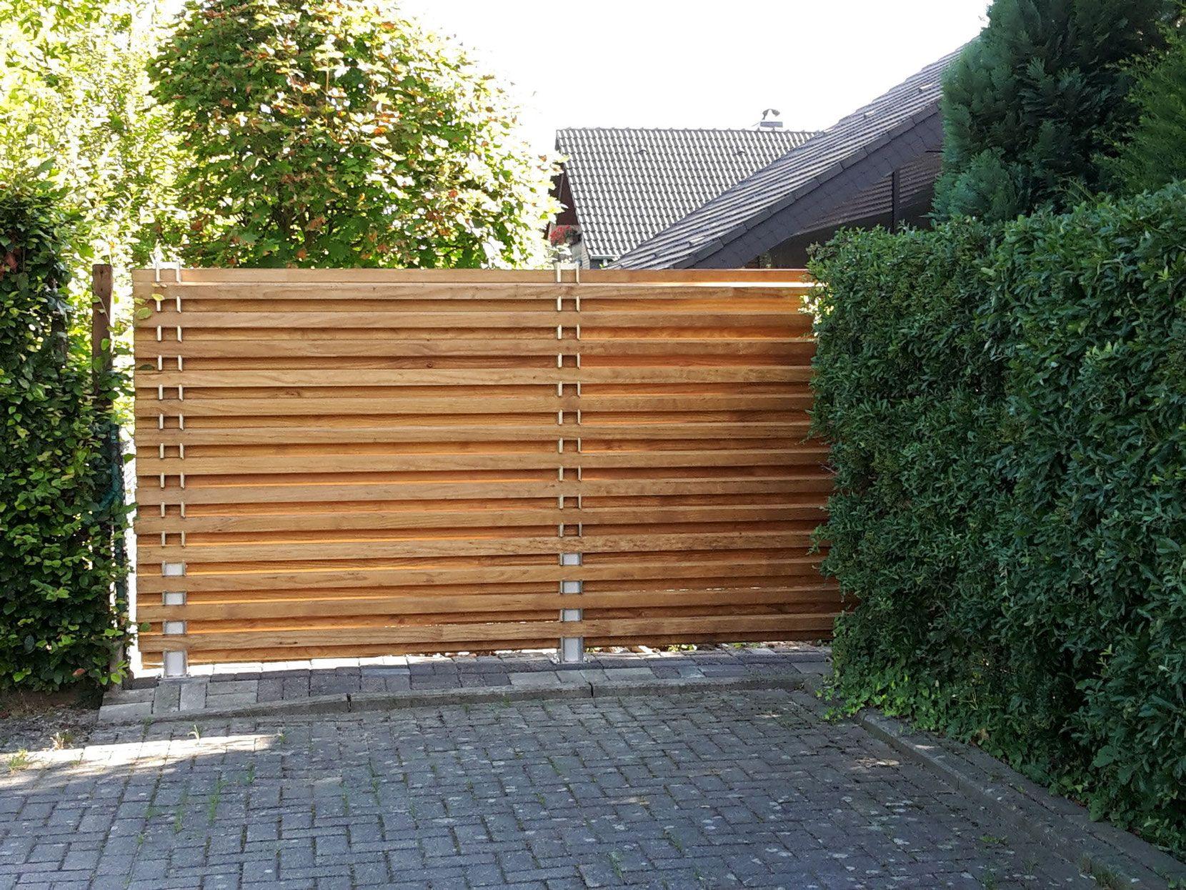 Gartengestaltung Nürnberg ystempfosten trigone verbindung gartenabtrennung trennwände