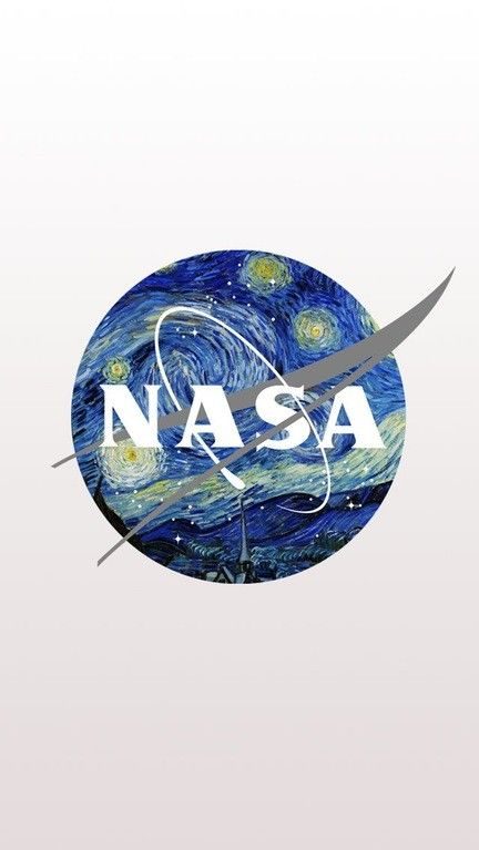 NASA Logo Mixed With Starry Night By Van Gogh IPhone Android Samsung Wallpapers