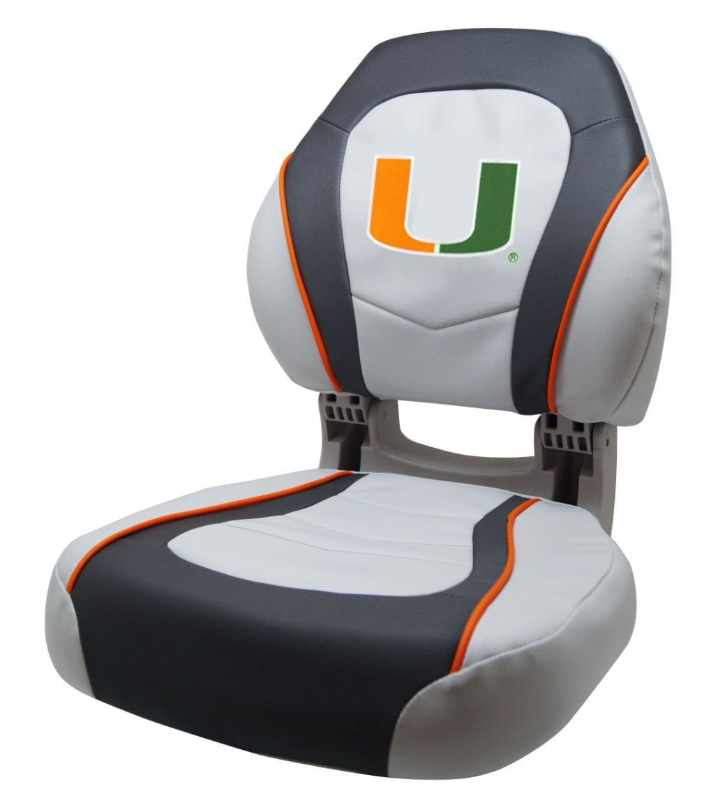 Wise U Torsa Pride Series Boat Seat Miami Hurricanes