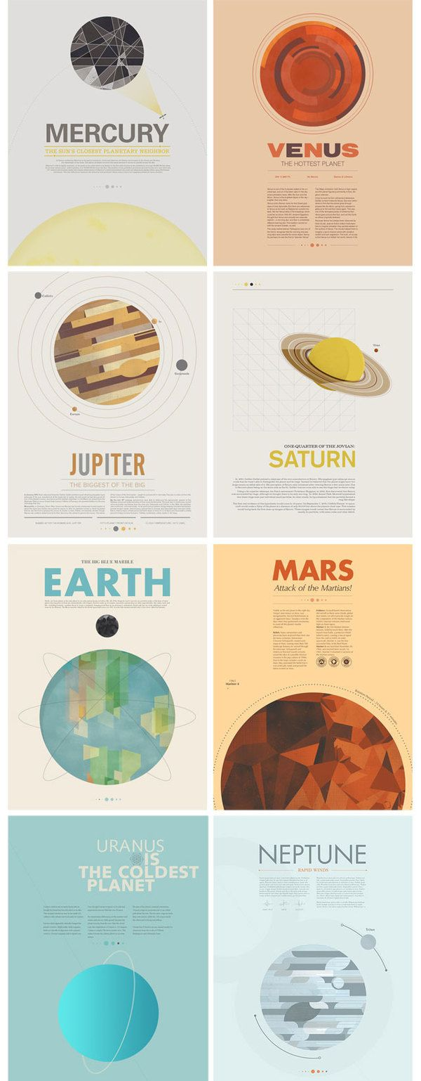 Beyond Earth: A Minimal Poster Series by Stephen Di Donato in Flat