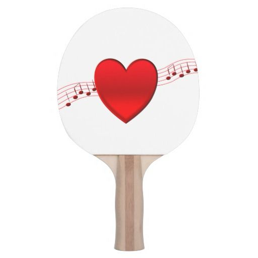 $39.95 Heart Music Ping-Pong Paddle