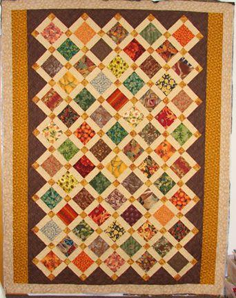 scrap fabric quilt lattice - Google Search