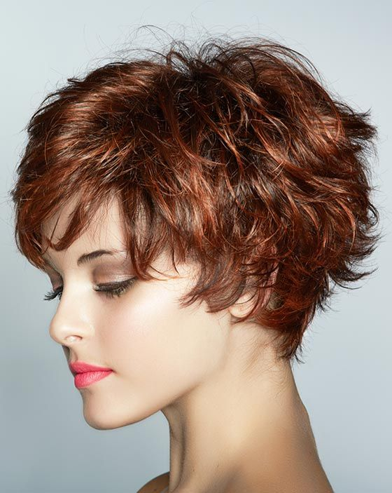 40 Stunning Hairstyles That Make Thin Hair Look Thick Haircuts For Curly Hair Short Hair Trends Short Hair Styles