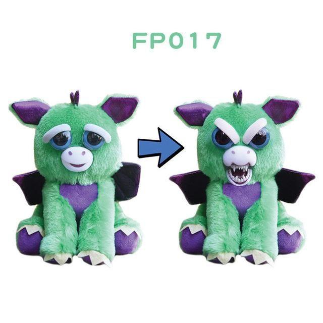 Original Feisty Pets Change Face Owlcube Specials Pets Plush Animals Cute Plush