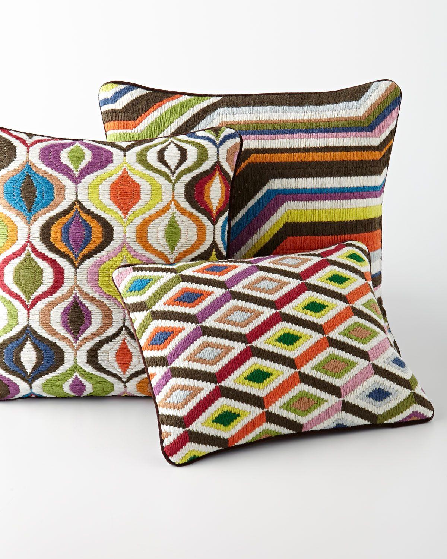 Bargello Waves Pillow Design Style Modern Twist