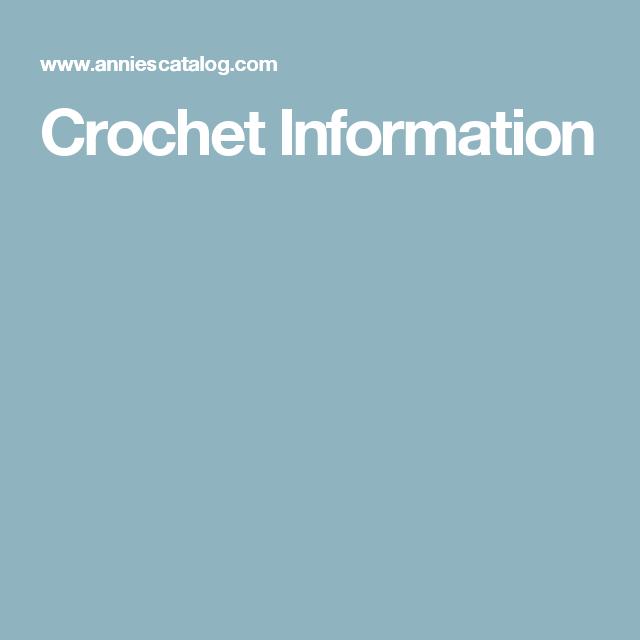 Crochet Information | Crochet Cheat Sheets(Stitches Tutorials ...