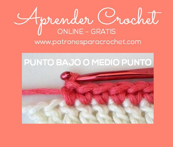 Curso Crochet Punto Bajo Puntos Basicos De Crochet Puntos