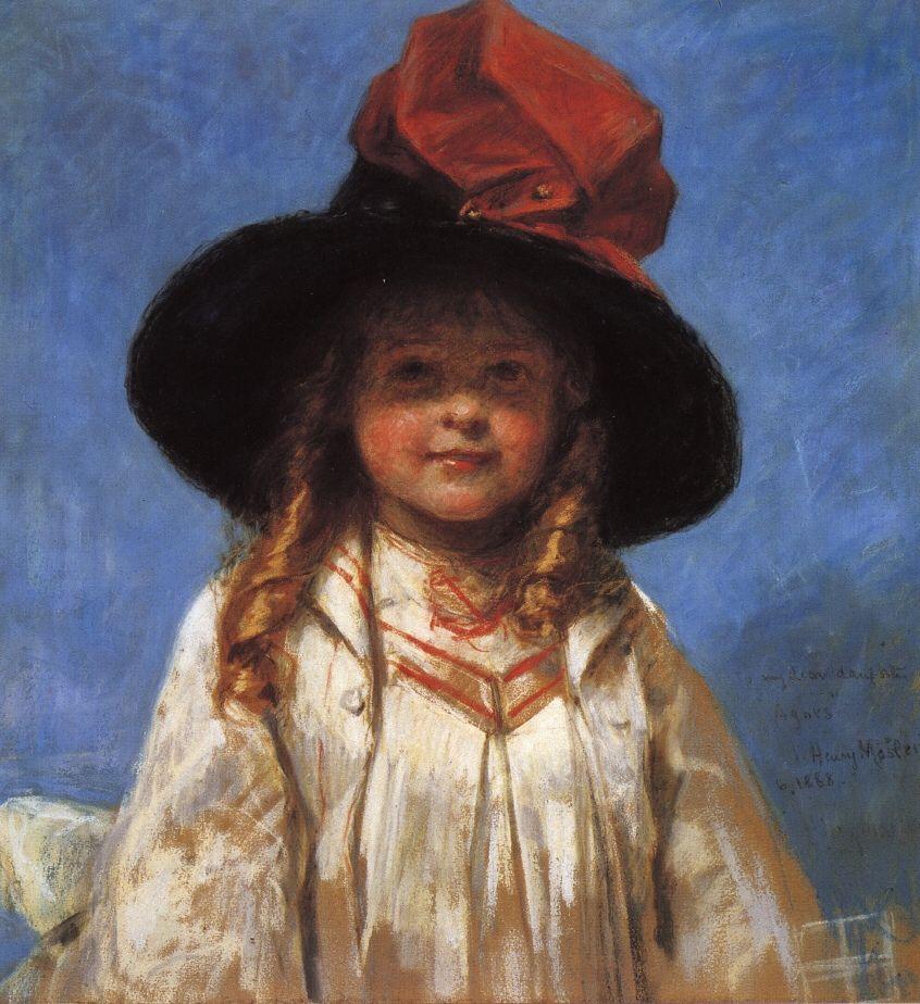 Henry Mosler - Portrait of Agnes