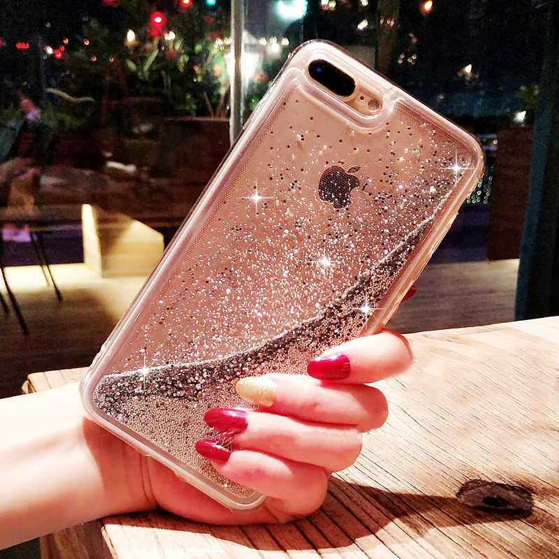 Phone Bags & Cases For Iphone 6 6s 6splus 7 7 Plus 8 Case Fashion Dynamic Liquid Glitter Colorful Sand Quicksand Soft Tpu Back Water Cover Case