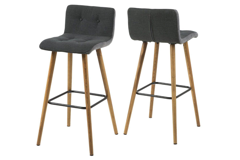 Ac design furniture set di sgabelli con fodera in stoffa con