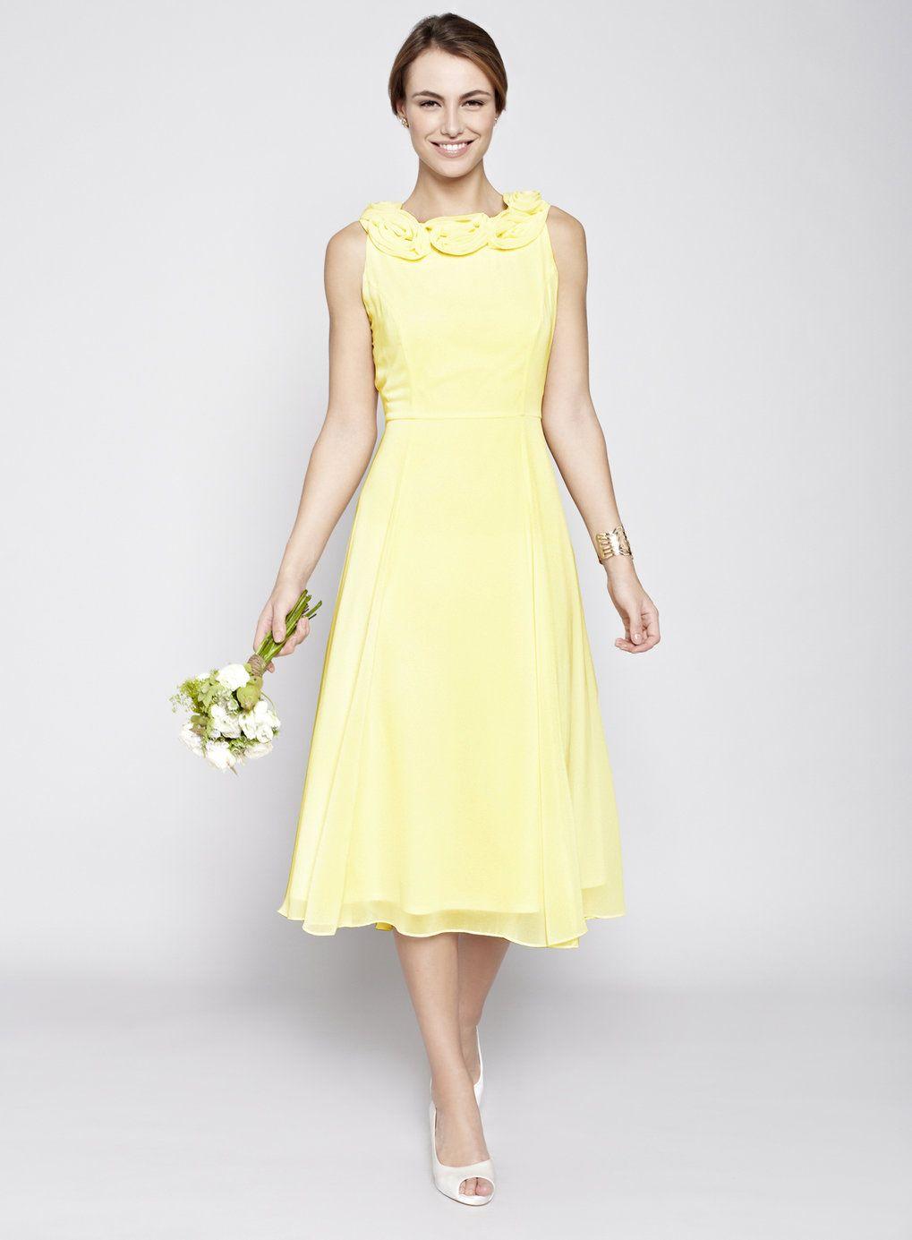 Ungewöhnlich Gelbe Spitze Brautjunferkleider Fotos - Brautkleider ...