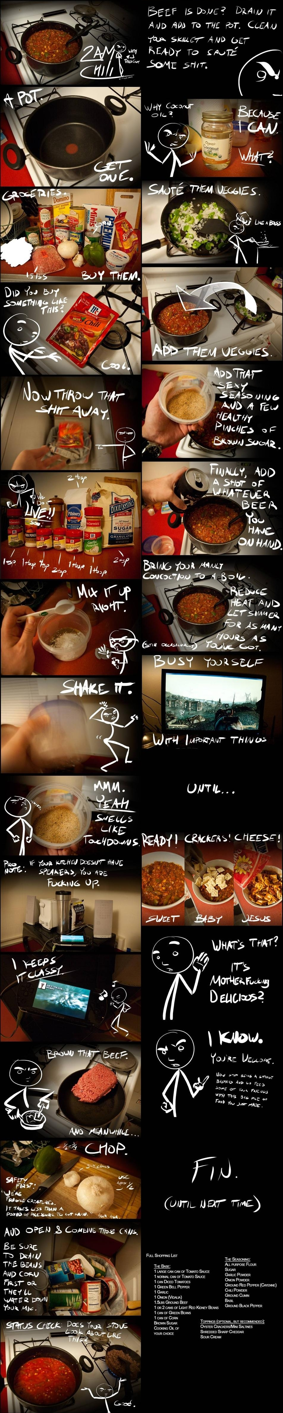 2am chili this is funny and it is the best chili ever secret