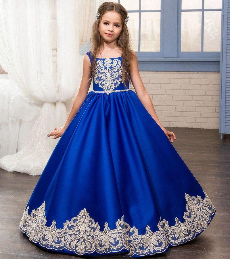 78cc5f778 Chica Princesa Fiesta Baile de Graduación Comunión para concurso Dama Boda  Vestido De Flores Niña