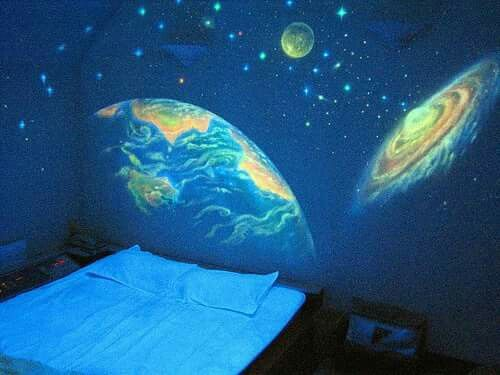 Outer space 3d wallpaper for master bedroom