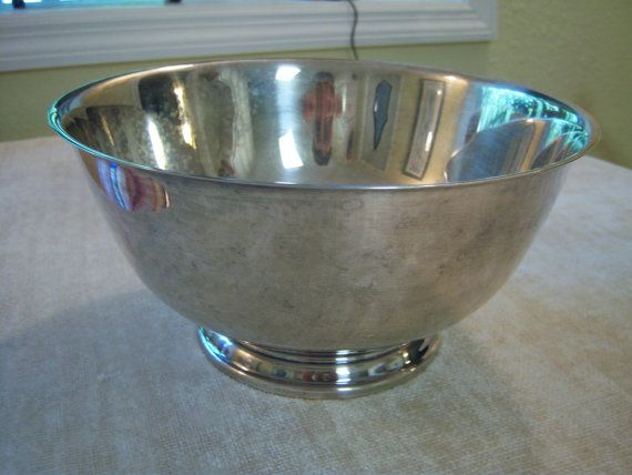 Paul Revere Reproduction/Oneida/Silver Plated Bowl/Trophy Bowl/Storage/Home