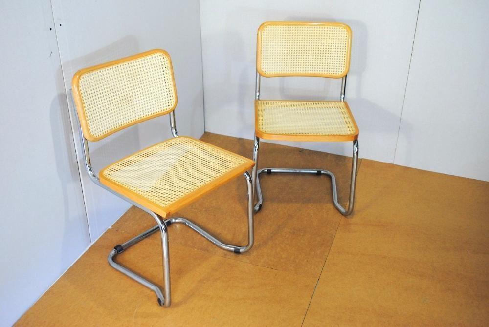89zl Krzesło Krzesła Metal Drewno Wiklina Stan Super 2