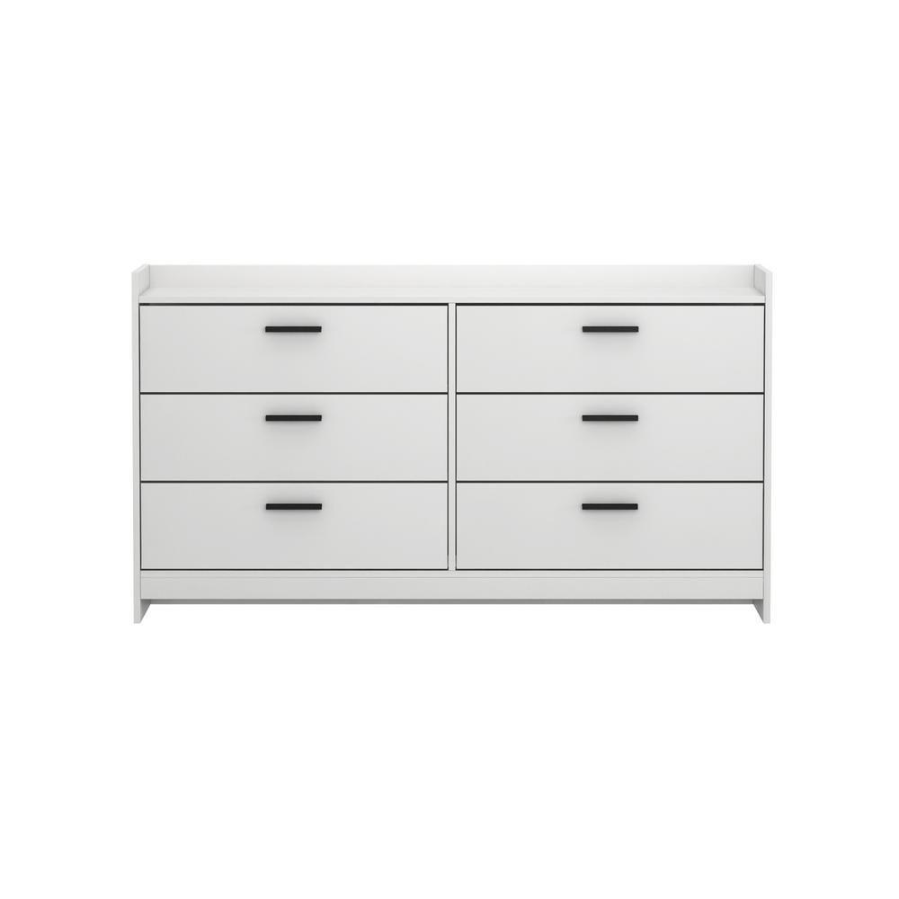 Homestar Central Park 6-Drawer Off White Dresser In 2019