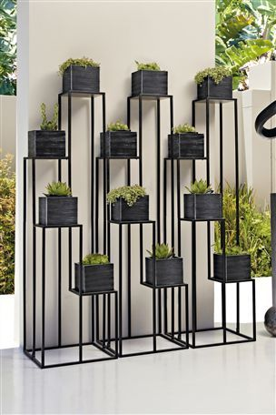Buy Black Metal Plant Stand From The Next Uk Online Shop Jardins