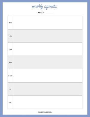 Blank Calendar Printables  Made With Love By Collettelazor