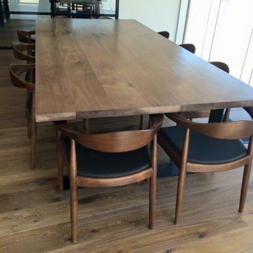 King Dining Table American Black Walnut