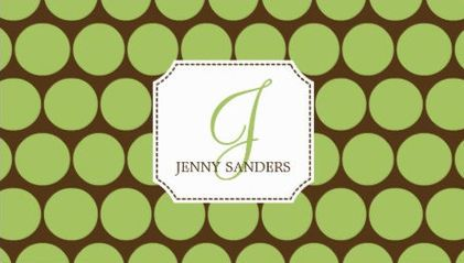 Mod brown and green dots charming monogram business cards httpwww mod brown and green dots charming monogram business cards httpzazzle reheart Gallery