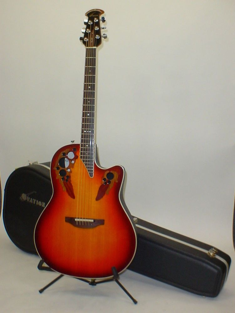 Ovation 6778lx Standard Elite Lx Acoustic Electric Guitar W Case Usa Acoustic Electric Guitar Guitar Acoustic Electric