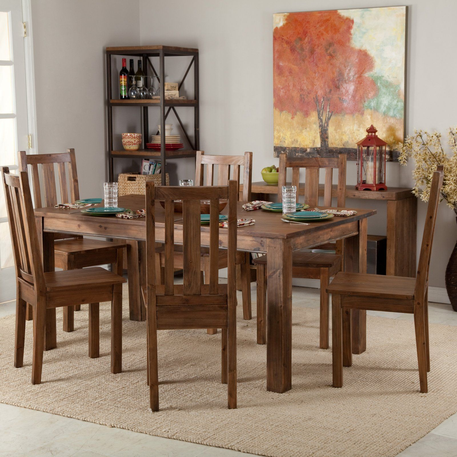 Townsend Rustic Wood Dining Table Set. Hopefully going to see this in my new apartment by October! :)