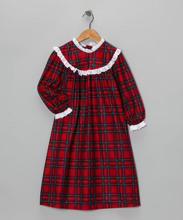 f03e9062f624 Take a look at this Traditional Plaid Nightgown - Toddler by ...