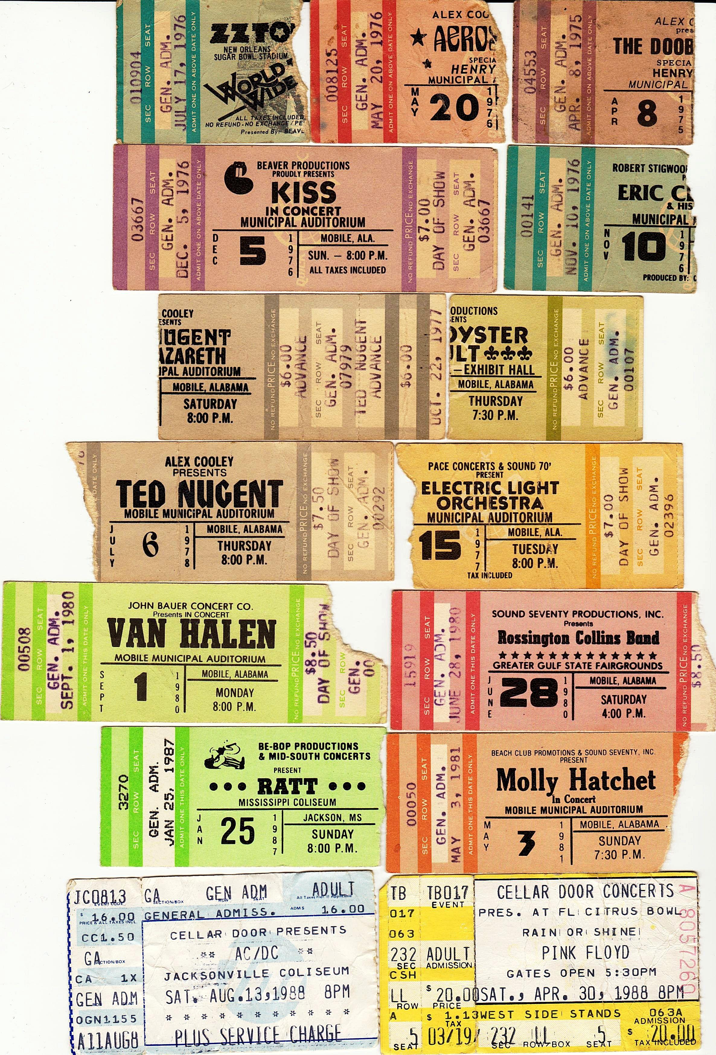 1970s Pink Floyd Concert Ticket Stub Google Search