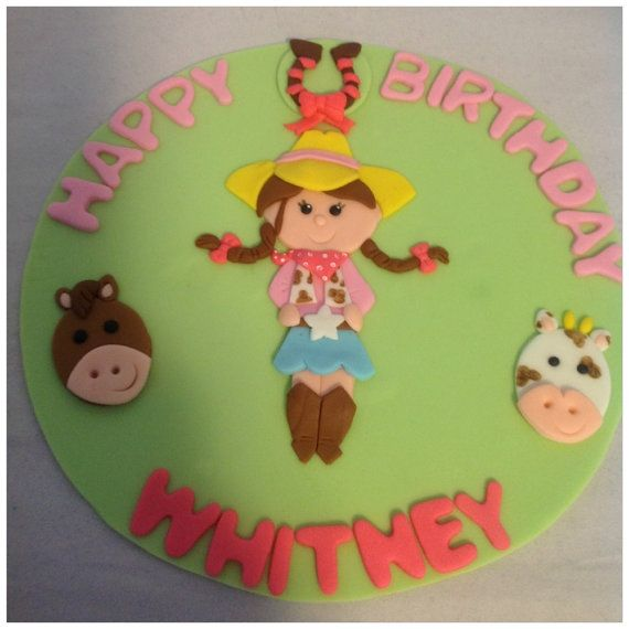 Cowgirl Cake topper by HauteTart on Etsy, $20.00